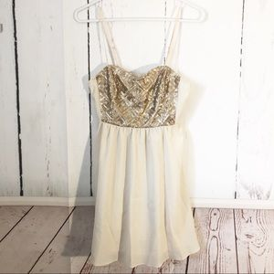 H&M • Sequin Busted Party Dress